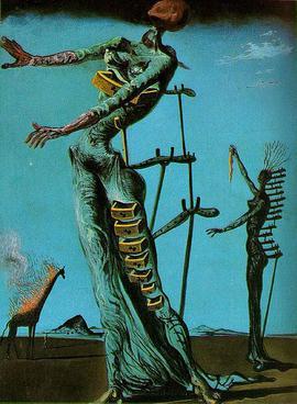 Płonąca żyrafa - Salvador Dali