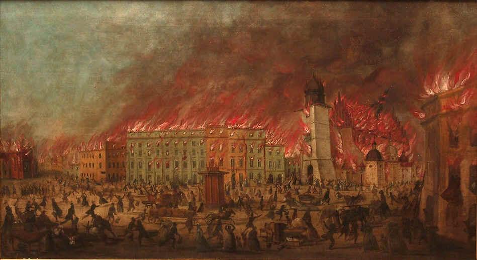 Pożar Krakowa Teodor Baltazar Stachowicz